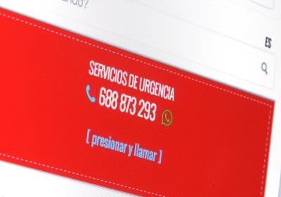 Página web corporativa con catálogo de servicios