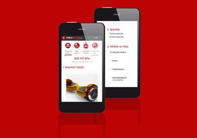 Esta web es responsive y permite realizar la compra del producto deseado de una forma muy ágil
