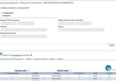 múltiples usuarios personalizables para cada usuario. Posibilidad de obtener el listado por pantalla o exportar a PDF.