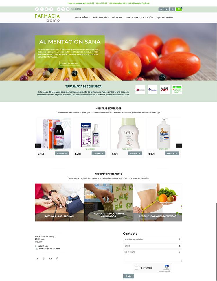 Tienda on-line para farmacias
