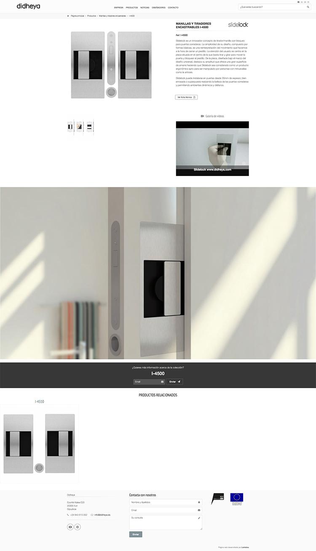 Página web corporativa con catálogo de productos