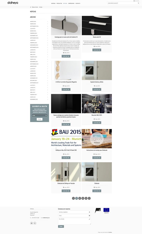 Páginas web con blog corporativo y noticias destacadas