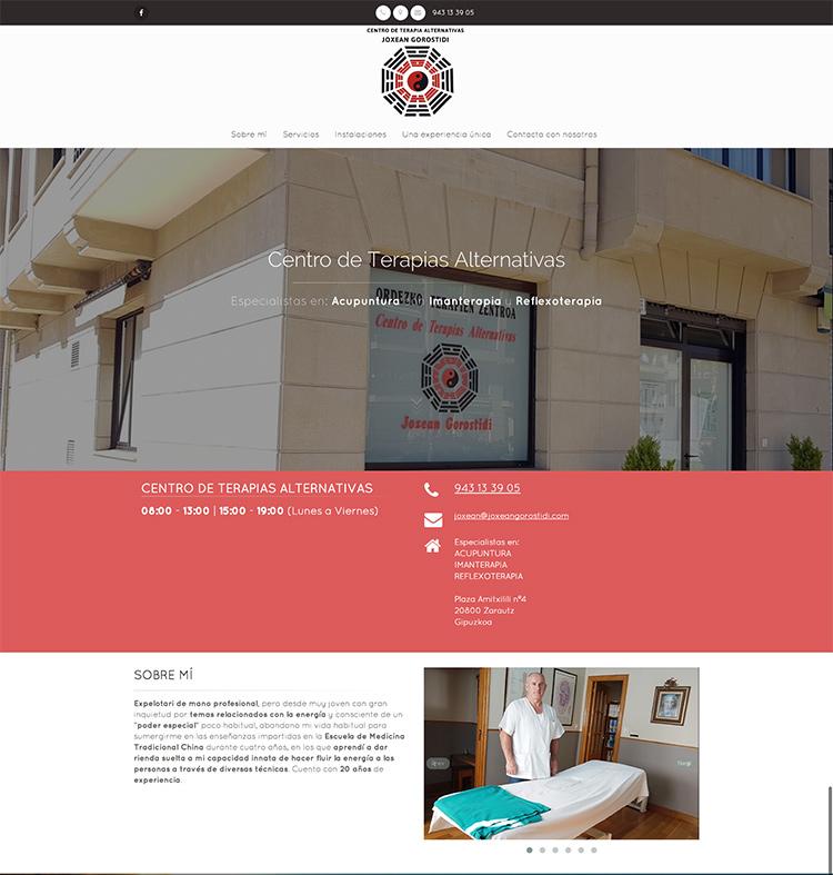 Web presencial para Centro de Terapias Alternativas