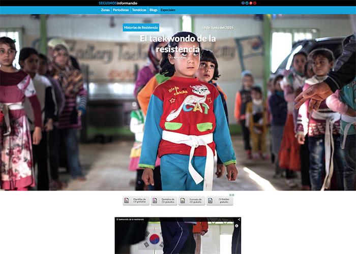 Plataforma web SEGUIMOS INFORMANDO