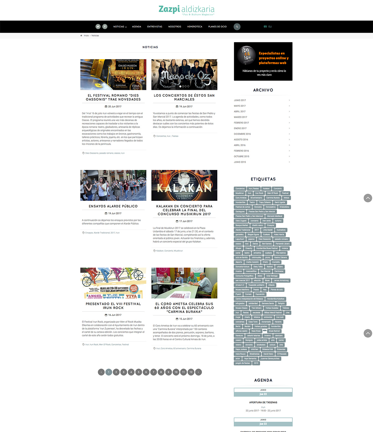 Revista online Zazpi Aldizkaria